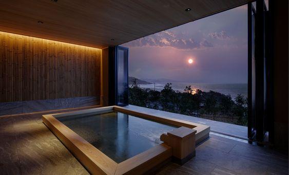 Six private open-air baths-Majin Onsen Sumihei