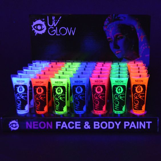 Blacklight Reactive Body Paint