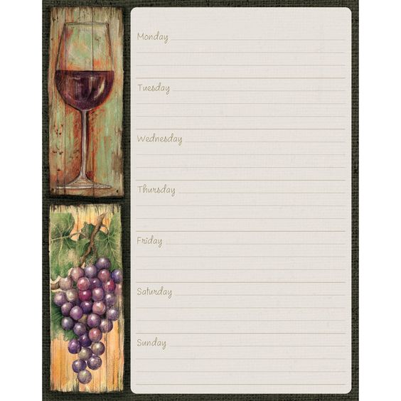 Wine Country Weekly Planner , 1083045   Lang