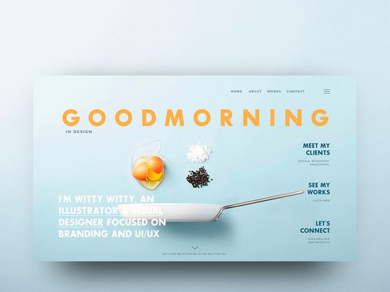 #GOODMORNING (start page concept)