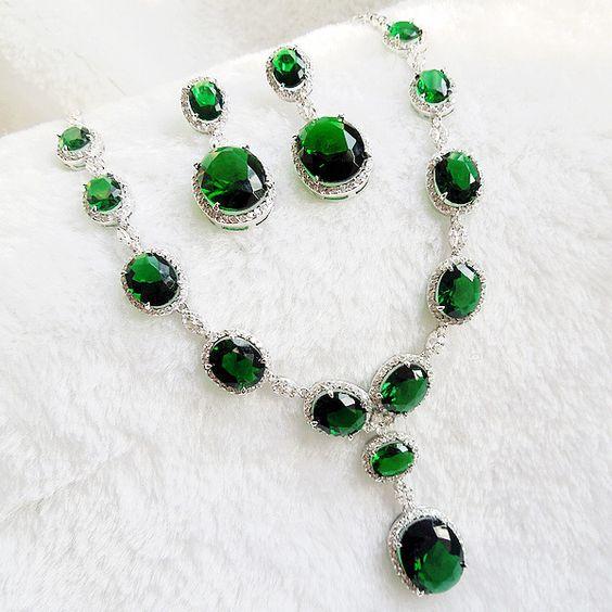 Swarovski EMERALD NECKLACES on eBay | Emerald in in green fashionjewelryforeveryone. Emerald