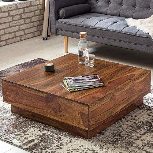 Finebuy Couchtisch Cube Sheesham Massiv Holz 90 X 90 X 30 Cm Dunkel Braun Quadratisch Design Wohnzimmer Tis Couchtisch Holz Wohnzimmertisch Coole Couchtische