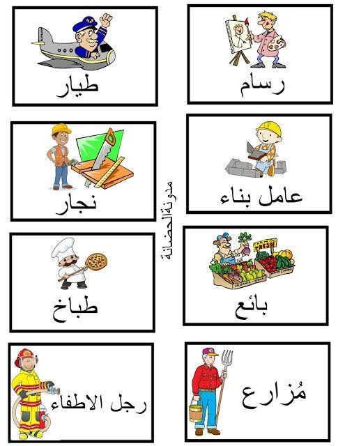Learning Arabic Msa Fabiennem صور عن المهن Arabic Lessons Arabic Kids Arabic Alphabet Letters