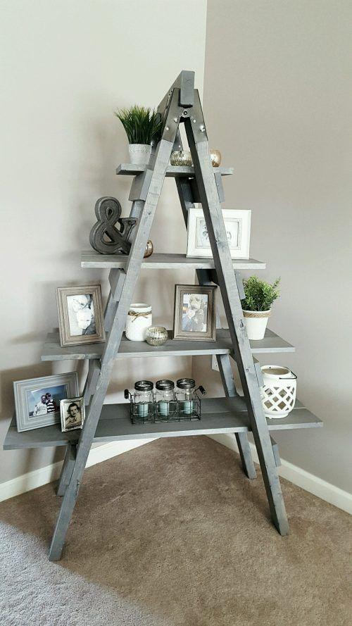 First Ever Build Wall Table Diy Decor Ladder Shelf Decor