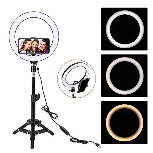 Ehook 13inch Led Ring Light With 2m Stand For Phone And Camera 13 Inch Outer 55w 5500k 3200k In 2020 Makeup Ring Light Led Ring Light Cell Phone Holder