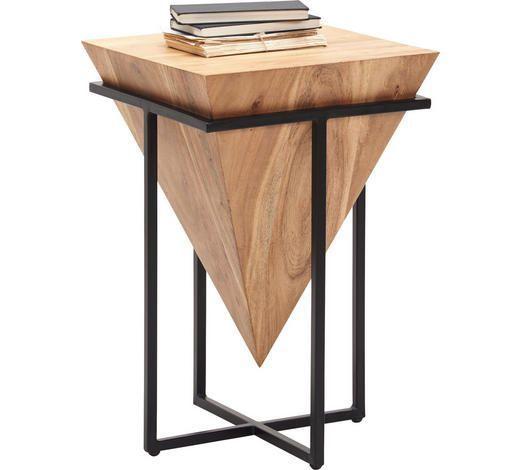 Aussergewohnlicher Beistelltisch Aus Holz Mit Metall Fussen Akazie Beistelltisch Eisen Massiv Shoppen W Geometric Furniture Metal Furniture Steel Furniture