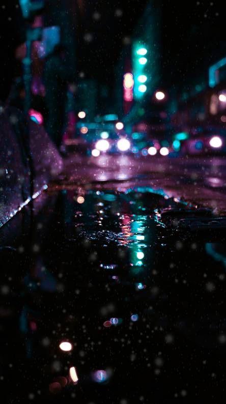 City Lights Rainy Wallpaper Neon Wallpaper 4k Wallpaper For Mobile
