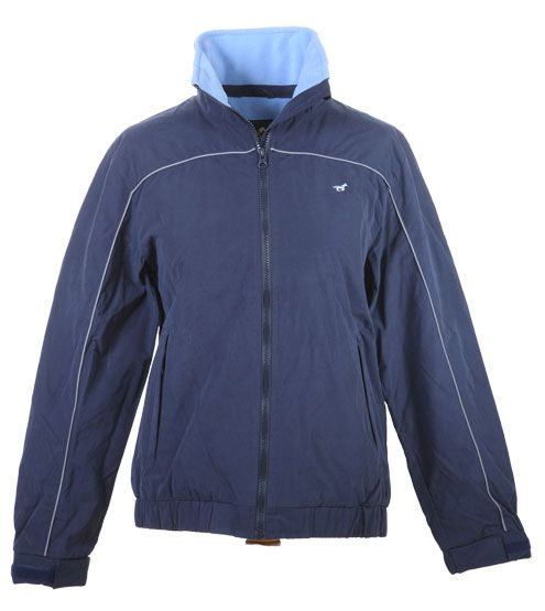 Lansdown Country Clothing Hedley Blouson Jacket - Navy Made from a showerproof peach finished polyester fabric this colourful blouson From Lansdown