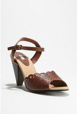 brown heels $48