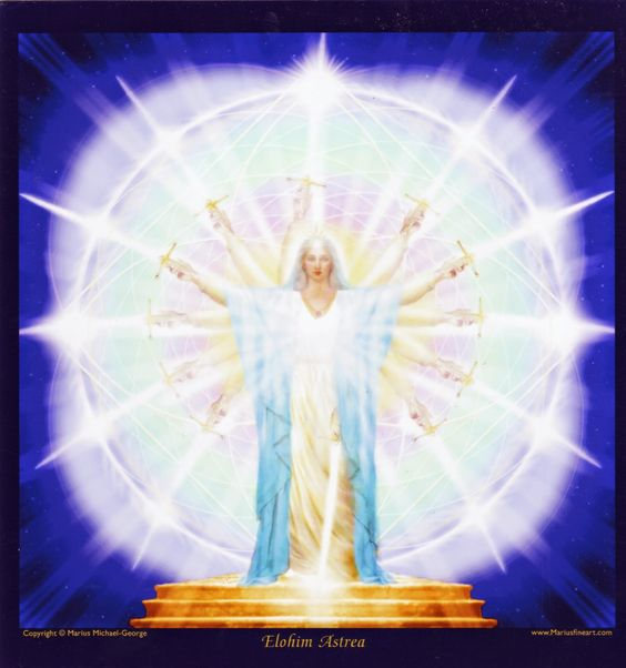 Mighty Astrea Goddesss of Purity Photo by Marius Michael George O! Mighty Astrea, May God Purity Manifest here for all to see God's Divine Will Shinning Through Circle and Sword of Brightest Blue.