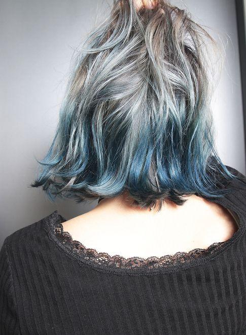 ブリーチ 2 マーブルグラデーション 髪型 ヘアスタイル ヘア