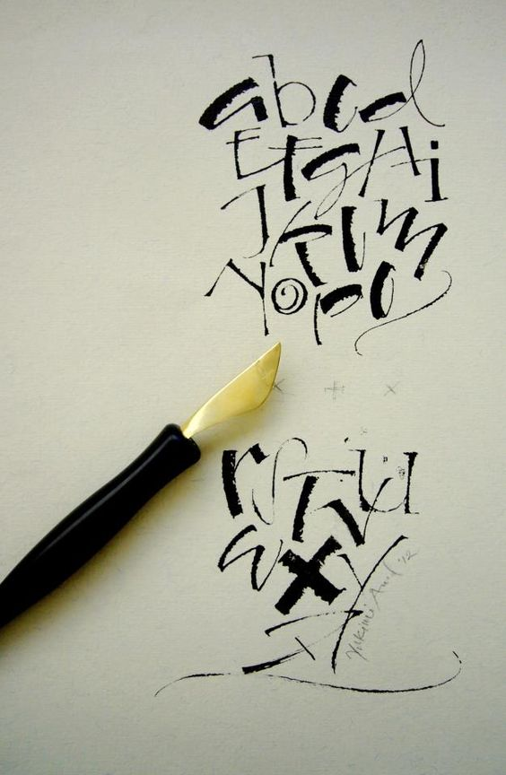 Yukimi annand lettering pinterest knives Yukimi annand calligraphy