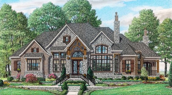Burleigh Stephen Davis Home Designs Craftsman House Plans French Country House Plans Brick Exterior House