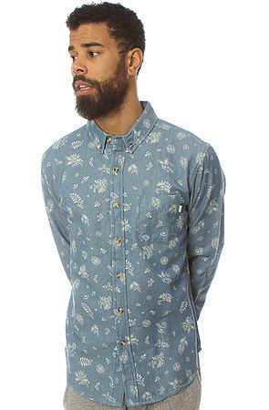 The Dharma Buttondown in Indigo by Obey