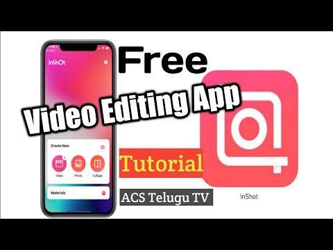Professional Video Editing Telugu Inshot How To Edit Videos Best Mobile Video Editing App Youtube Video Editing Apps Video Editing Mobile Video