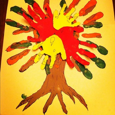 Very cool Handprint tree my husband made with us!