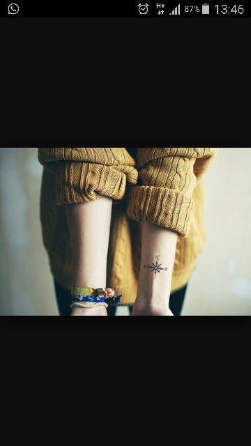 Windrose tattoo