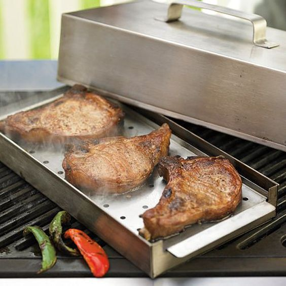 Smoker box for gas grills.