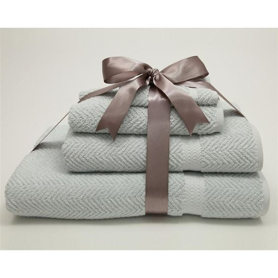 Luxury Hotel & Spa Herringbone Weave 100% Turkish Cotton 4 pc. Combination Set