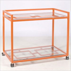 Neon accessories for the home! '60s bar cart... think Mad Men!