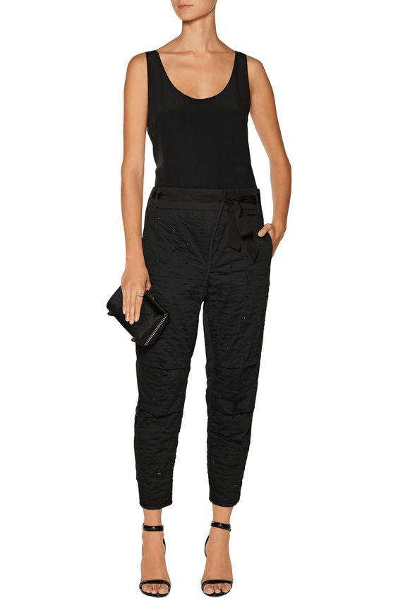 Isabel MarantCrystal-embellished cotton tapered pants