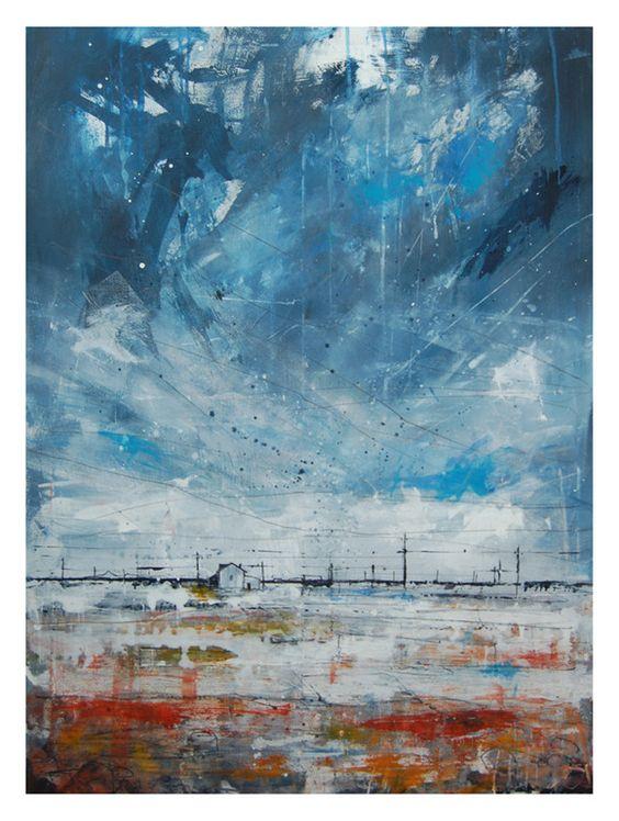 "Saatchi Online Artist: Anthony Garratt; Acrylic, Painting ""Dungeness study 2"""