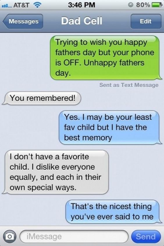 Dump A Day Funny Texts from Dad - 26 Pics ... Why did the texts change from green to blue?!