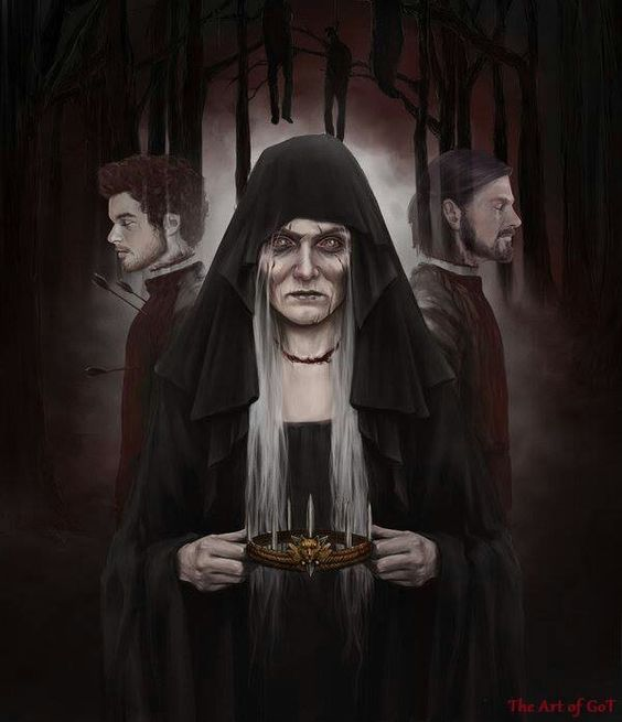 Lady Stoneheart with Robb and Ned by Zippo514