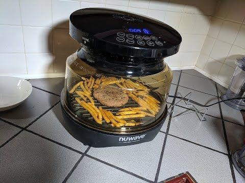 Frozen Burger And Fries Nuwave Primo Grill Oven Grilling Instructions Nuwave Oven Recipes Power Air Fryer Oven Recipe Oven Burgers Nuwave Burger And Fries