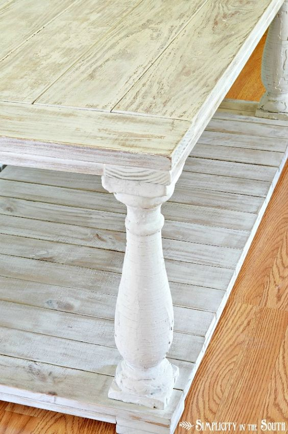 make your own coffee table restoration hardware knock off love the finish furniture ideas. Black Bedroom Furniture Sets. Home Design Ideas