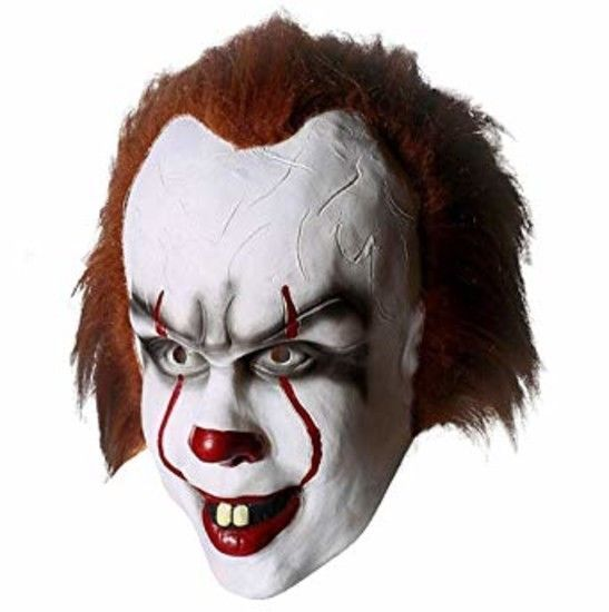 Red Stephen King/'s It Clown Pennywise Mens Adult Halloween Horrible Cosplay Mask