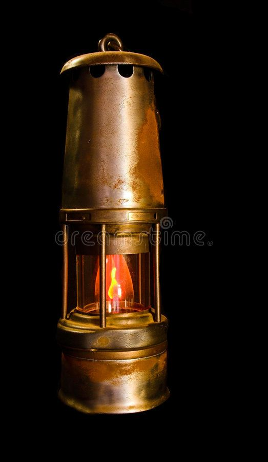 Mining Safety Lamp An Old Antique Coal Mining Safety Lamp With An