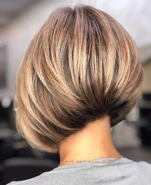 Bob Haircut Images In 2020 Short Layered Bob Haircuts Bob Hairstyles For Thick Thick Hair Styles