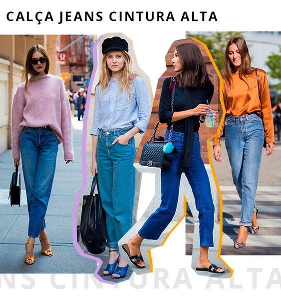 moda tendência: calça de cintura alta
