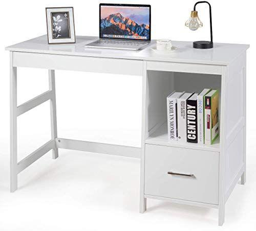 New Tangkula 47 5 Computer Desk 2 Storage Drawers Small Computer