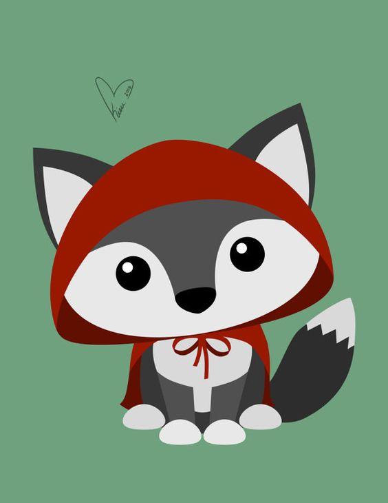Little Red Riding Hood - lámina media o pequeña