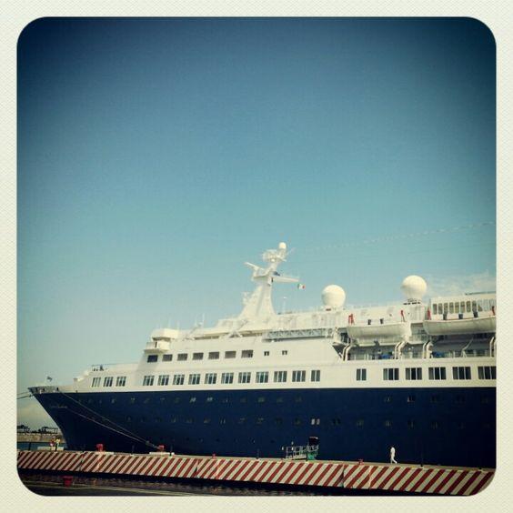 El crucero Quest For Adventure se encuentra en el #malecon de #Veracruz http://www.turismoenveracruz.mx #turismo