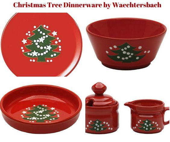 Christmas Tree Dinnerware by Waechtersbach