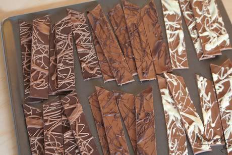 how to make chocolate shards