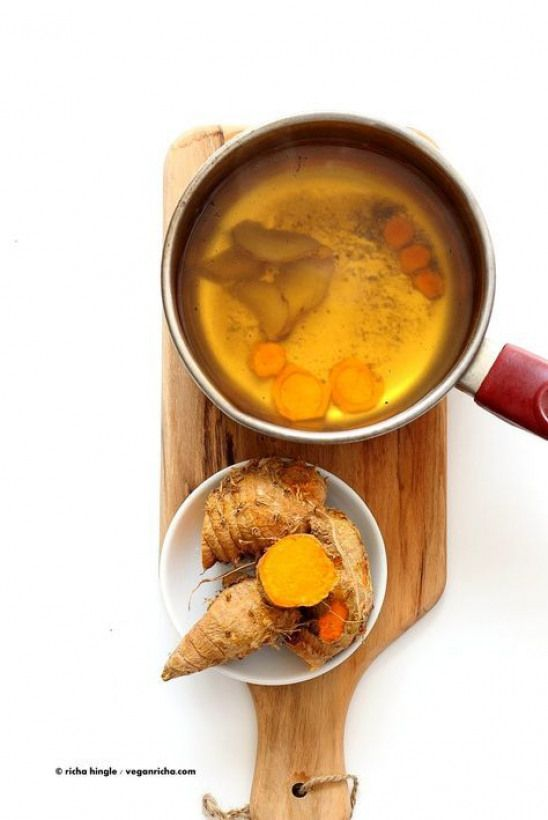 Ginger Turmeric Root Tea Fresh Turmeric Root And Ginger Simmered With Black Pepper Add Sweetener Of Choice Serve Hot Or Chilled Vegan Gluten Free Recipe V