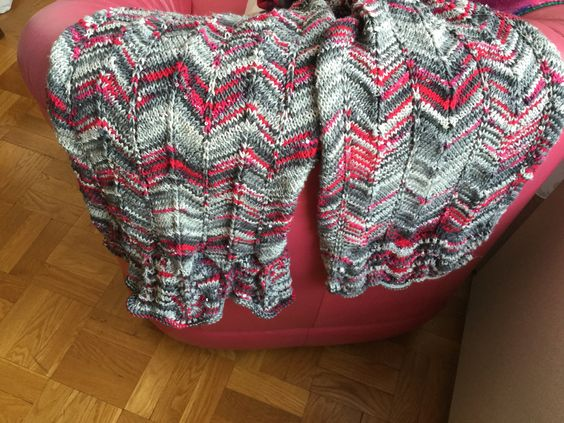 Sparkle Fan/Chevron Shawl