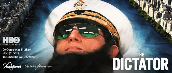 The Dictator - The heroic story of a dictator who risks his life to ensure that democracy would never come to the country he so lovingly oppressed.