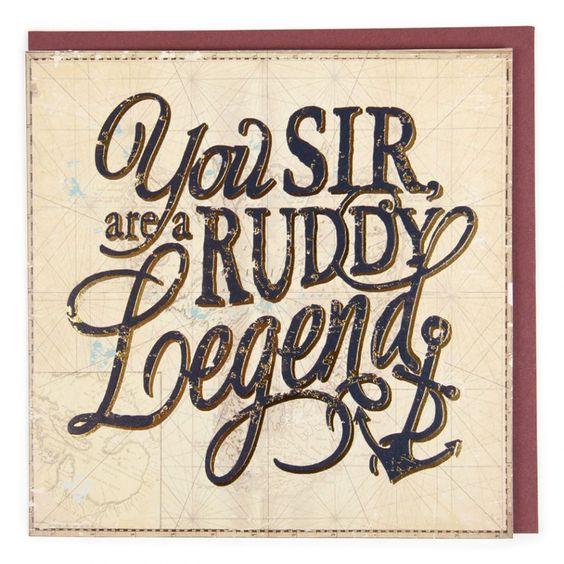 Ruddy legend card