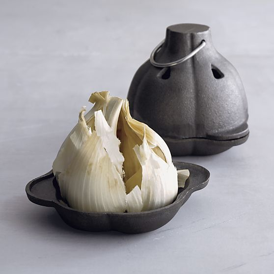 Cast Iron Garlic Roaster in Bakeware $15 at Crate and Barrel