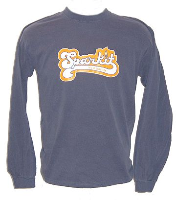 Long Sleeve Weed Tee 100% cotton Tee with multi-colored Sparkit Logo $17