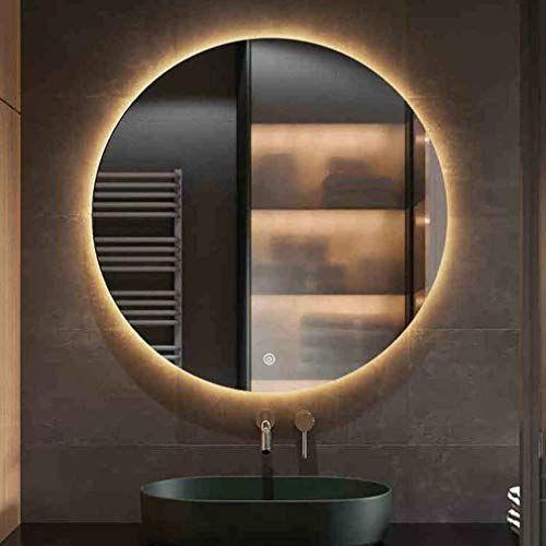 Qz Round Led Light Mirror Bathroom, Bathroom Mirror With Led Lights And Bluetooth