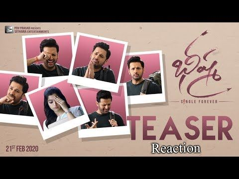 Bheeshma Movie Teaser Reaction Nithin Rashmika Mandanna Venky Kudumula In 2020 Movie Teaser Teaser Movies
