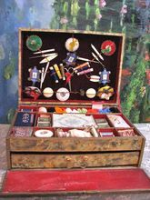 Fabulous Antique French Sewing Kit with Doll