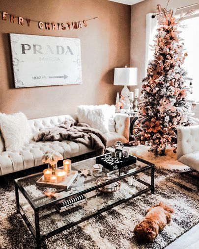Pin By Claudia Faith S Corner On Winter Christmas Decorations Living Room Christmas Coffee Table Decor Christmas Living Rooms