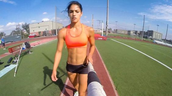 "Fly alongside Allison Stokke as she takes you through her pole vault routine and hear why she agrees with the notion that pole vaulters are indeed ""a little crazy."""
